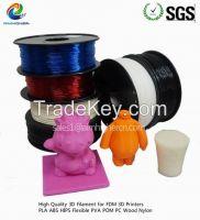 PLA filament Black color 1.75/3.0m factory price