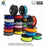 8pcs lot ABS filament 8 kinds of color 1.75/3.0m factory price