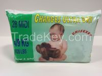 Baby Diapers in Packings for selling