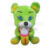 Plush Toy in 3 Color with Gold Ribbon as Nice Gift for Baby Kids