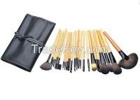 24pcs brush set with cosmetic bag