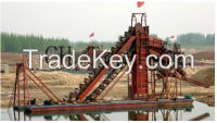 Large capacity and multifunctional bucket chain dredger