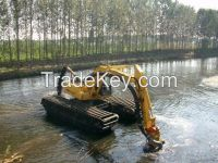 Amphibious Excavator/ Swampland Excavator for Dredging and Construction