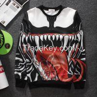 2015 New men 3d print pullover Hip hop sports man hoodies sweatshirt sportswear crewneck casual tops for men/women sweatshirt