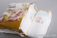 Golden soft baby diapers