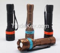 LEDT6 Handheld Flashlights&Lamp, Camping Torch, Adjustable Focus Zoom Tactical Light Lamp