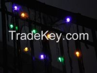 10 LED Halloween spider llights , Lighted Gauze Garland