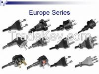 Europe 250v VDE Standrad 2/3pin plug power wire / cable