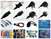 China Standrad 2/3 pin plug power cord
