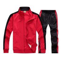Sport slim fit custom latest design plain tracksuits
