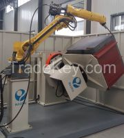 CNC Robotic Arm Welding Machine with Positioner for Fuel Tank