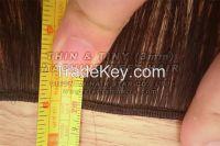 Weft hair, virgin hair from 100% drawn hair