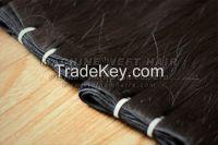 Weft hair, virgin hair from double drawn hair
