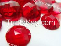 Ustar Jewelry Round Shape Cut Synthetic Glass Stone for Decoration
