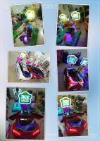 Newest Coin Operated 3D motorcycle swing machine kiddie ride machine