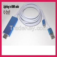 hot sale MHL Iphone lightning USB TO HDMI ADAPLTER CABLE