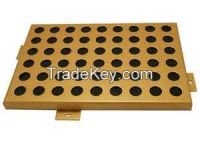 Round Hole Perforated Aluminum Panels with Surface PVDF Coating