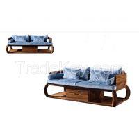 Living room wood sofa 1+2+3 seaters sofa set