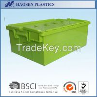 Cheap plastic moving boxes stackable with lid