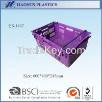 Factory plastic crates plastic fruit crates