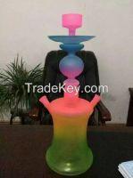 high borosilicate  glass shishahand blown glass hookah with beautiful colour