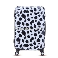 2016 New fashion printing hard abs pc trolley bags for travel