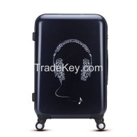 Fashion cool music 20 24 28 inch abs pc trolley suitcase from China