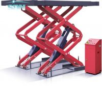 SDN-SUG-3.5 Install under ground scissor car lift auto hoist elevator car jack for auto repair