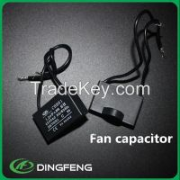 Square red and white color cbb61 300vac capacitor