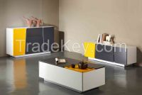 modern design cabinet, coffee table and TV stand