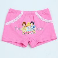 Lovely princess print girls' panties girls brief