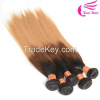 2016 Xuchang Wholesale Real Brazilian Hair 3 Tone Ombre Cheap Remy Human Hair Weave, Brazilian Hair Bundles
