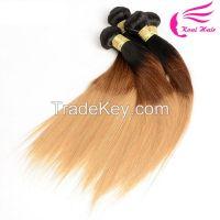 OEM Accepted 7a 100 Human Hair Remy Human Hair Weaving, 100% human ombre hair braiding hair