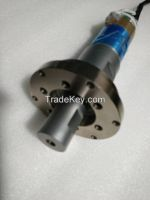 NTK 1800w Ultrasonic Welding Transducer With Booster , 20khz And 11-12nf Capacitance