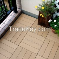 PS Material Slat with PE base Assembled WPC Outdoor Flooring