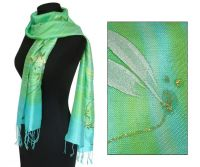 Flower silk scarf & shawl from thailand