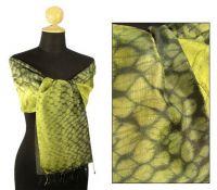 Exclusive Snake Silk Scarf & Shawl
