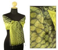 Exclusive Snake Silk Scarf & Shawl