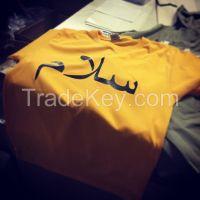 T-shirt with Arabic logo print