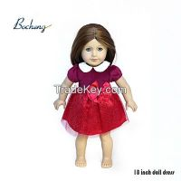 Bocheng doll clothing maufacturer 18 inch doll dress