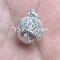Bali Sterling Silver Jewelry Chime Ball / Harmony Ball Pendant HB013