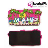 Home decorative souvernir cute 3d cartoon soft pvc plastic fridge magnet