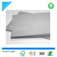 grey board paper grey paperboard/grey cardboard for gift packaging box&bag etc