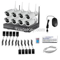 LS Vision 8CH 2.4G Wireless Wifi NVR Kit CCTV 960P IR Wifi IP Camera System (LS-WK8108)