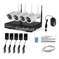 LS Vision 4 Channel Full HD 1080P Wireless Wifi Nvr Kit 4pcs P2P CCTV IP Surveilliance Camera (LS-WK9104)