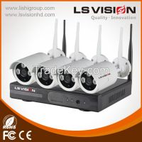HD Wifi Nvr Security System With 4PCS Fixed Lens 3.6mm IR Bullet Camera (LS-WK8104)