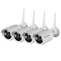 LS Vision hot selling IP camera 720P nvr monitor kits bullet & dome for choose (LS-WK7104M)