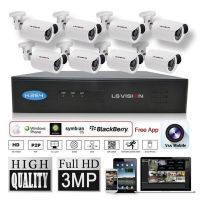 LS Vision outdoor camera bullet proof,outdoor camera 8ch dvr kits,outdoor installation camera