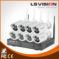 LS Vision 8 Channel 720P Real time NVR System with 8pcs Wireless WiFi Network IP Bullet Cameras