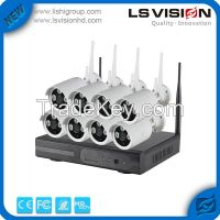 LS Vision 960p 8ch Nvr Cctv Ip Wireless Kit With Wifi Outdoor Bullet Camera 2mp ( LS-WK8108)